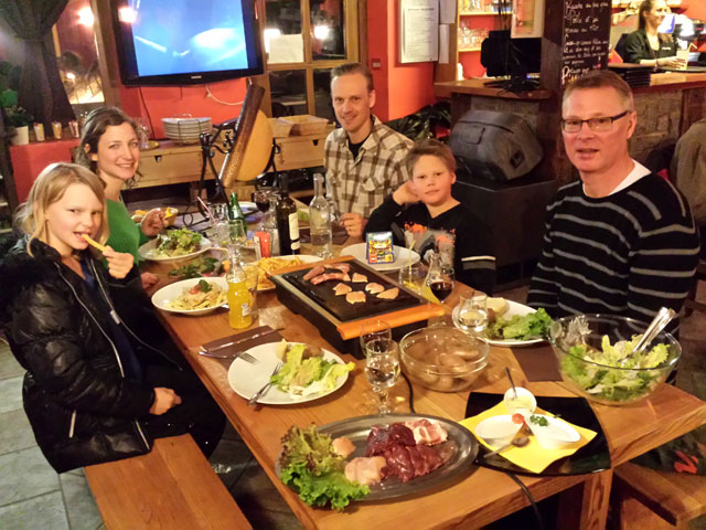Family dinner - Raclette and Meat